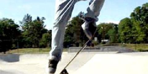 Як робити оллі на скейті в парку?