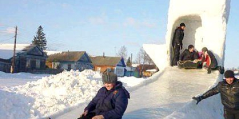 Як робити сніжну гірку?
