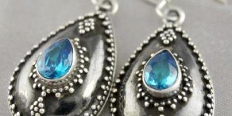 Як почистити срібні сережки з каменями?