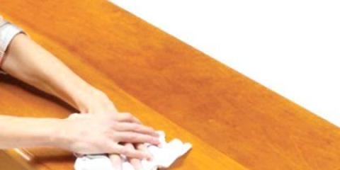 Як видалити віск з меблів?