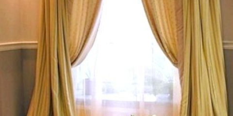 Як повісити штори з ламбрікенов?