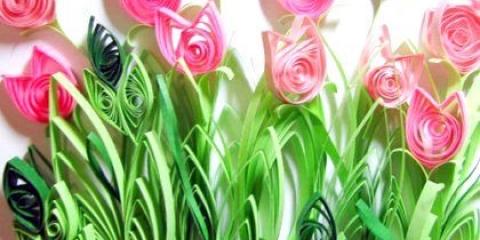 Як робити квіллінг квіти?