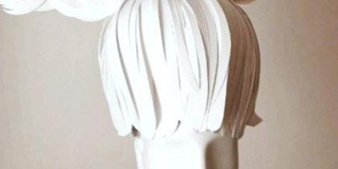 Як зробити перуку з паперу?