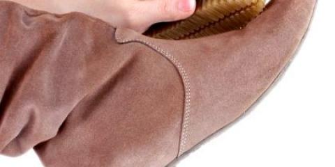 Як відновити замшеве взуття після дощу?