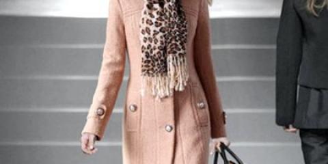 Як зав'язати хустку під пальто?