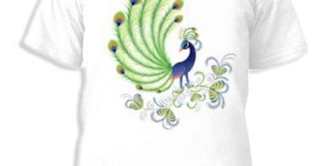 Як малювати павича на майку?