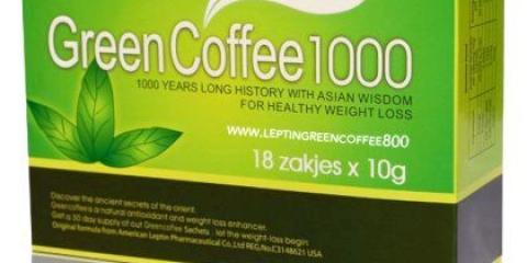 """Зелена кава """"1000"""": відгуки, склад, користь"""